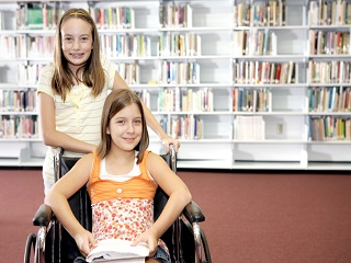 girl with wheelchair